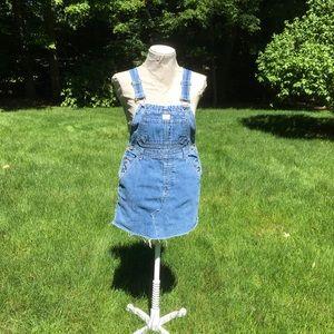 LIMITED SALE! Calvin Klein denim overalls dress